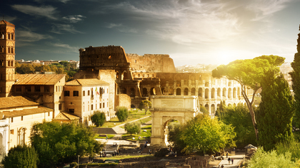 beautiful rome the forum and colosseum