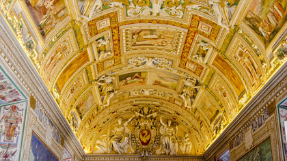 the vatican gallery of maps ceiling 10197