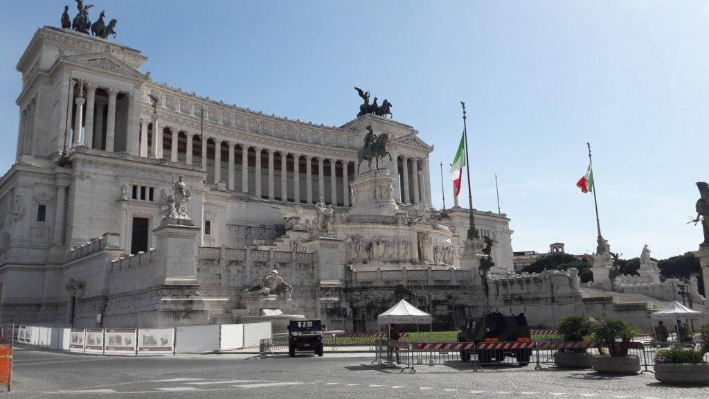 Monument of Vittorio Emanuele II, Piazza Venezia during Covid-19